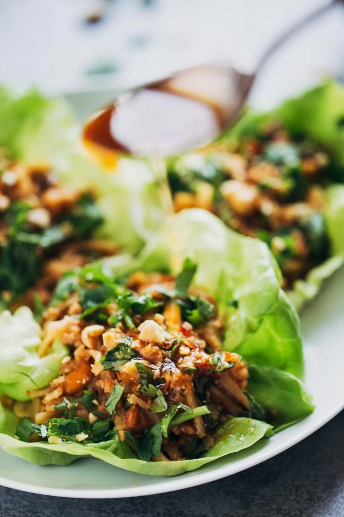 Ground Chicken Lettuce Wraps  Peanut Chicken Lettuce Wrap & Ginger Sauce – Healthy