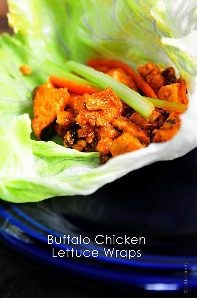Ground Chicken Lettuce Wraps  buffalo ground chicken lettuce wraps