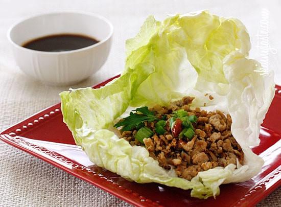 Ground Chicken Lettuce Wraps  Asian Chicken Lettuce Wraps
