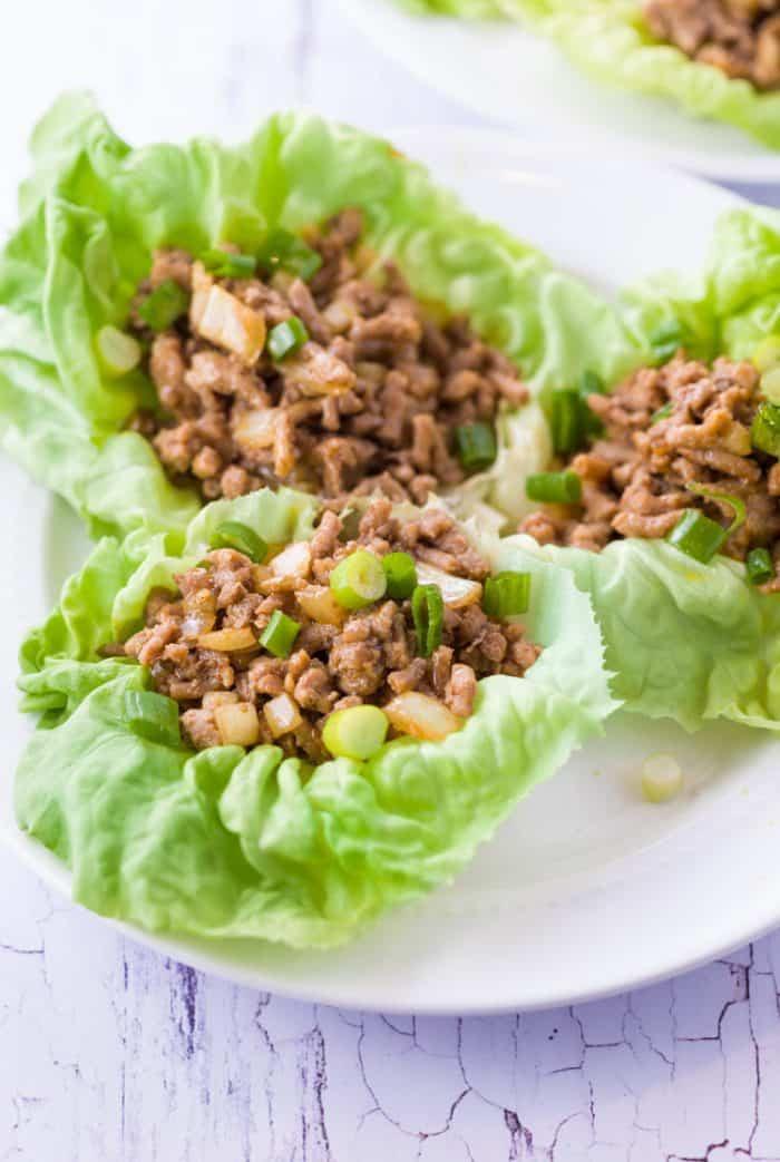 Ground Chicken Lettuce Wraps  Copycat PF Changs Chicken Lettuce Wraps The Cozy Cook
