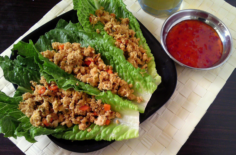 Ground Chicken Lettuce Wraps  Lettuce Wraps