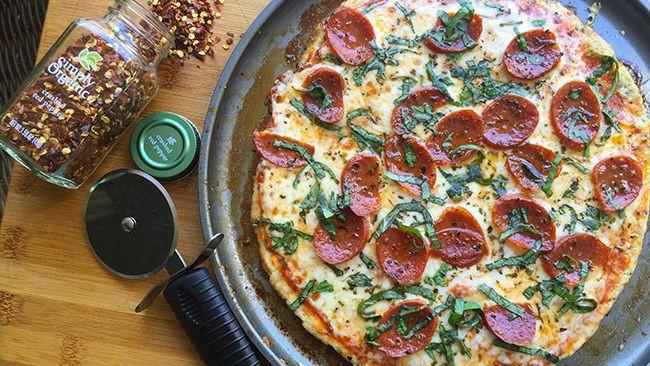 Ground Chicken Pizza Crust  Chicken Crust Pizza nocarbpizza bariatricpizza