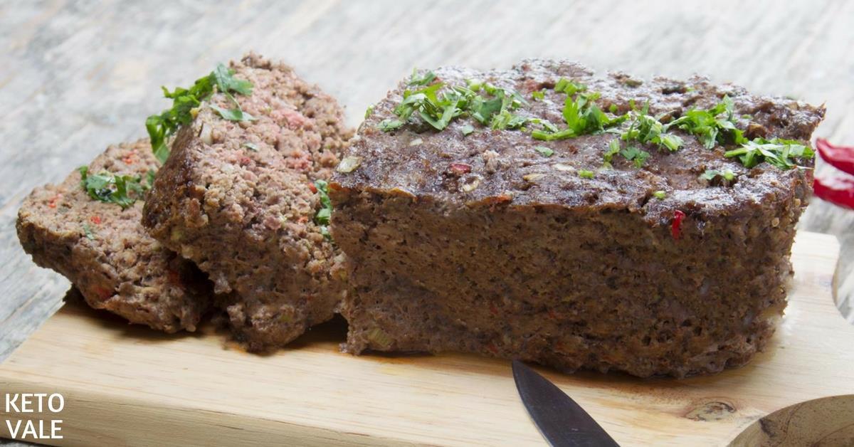 Ground Pork Meatloaf  Easy Beef Meatloaf Low Carb Recipe