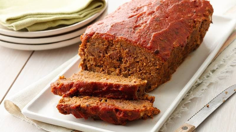 Ground Pork Meatloaf  Quick Easy Ground Beef Meatloaf Recipes Pillsbury