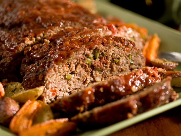 Ground Pork Meatloaf  Meatloaf Recipe Jamie Oliver with Oatmeal Rachael Ray
