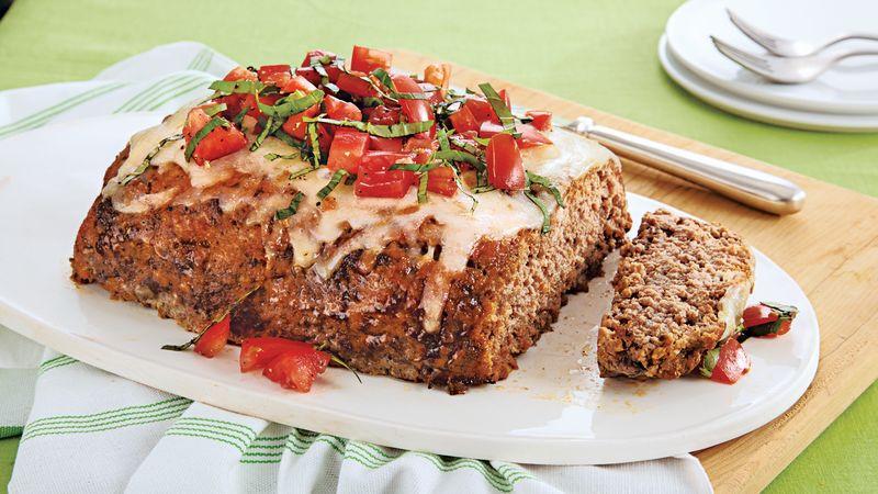 Ground Pork Meatloaf  Tomato Basil Meatloaf Recipe BettyCrocker
