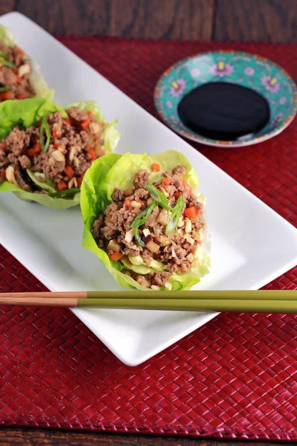 Ground Turkey Lettuce Wraps  Chinese Lettuce Wraps With Ground Turkey