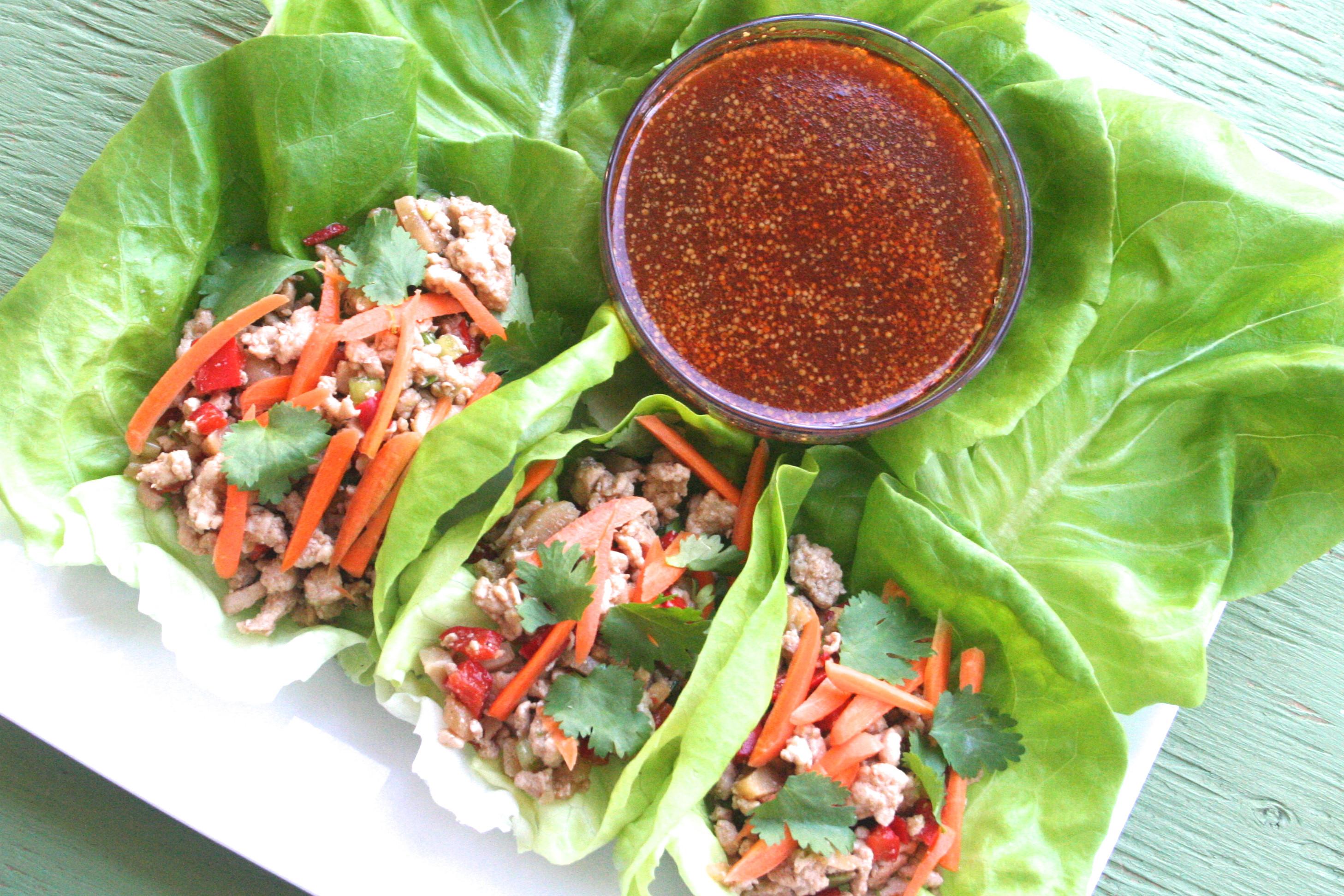 Ground Turkey Lettuce Wraps  lettuce eat [ground turkey lettuce wraps w spicy