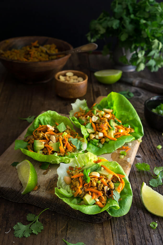 Ground Turkey Lettuce Wraps  Viktoria s Table With a pinch of salt and a handful of love