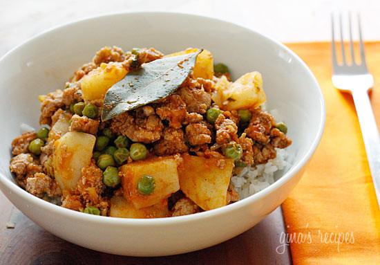 Ground Turkey Meals  Ground Turkey with Potatoes and Spring Peas