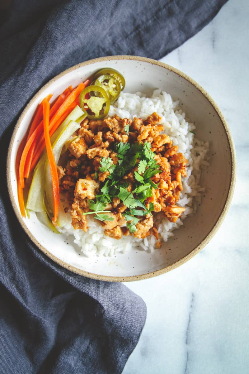 Ground Turkey Meals  Asian Ground Turkey and Rice Bowls Recipe Sweetphi