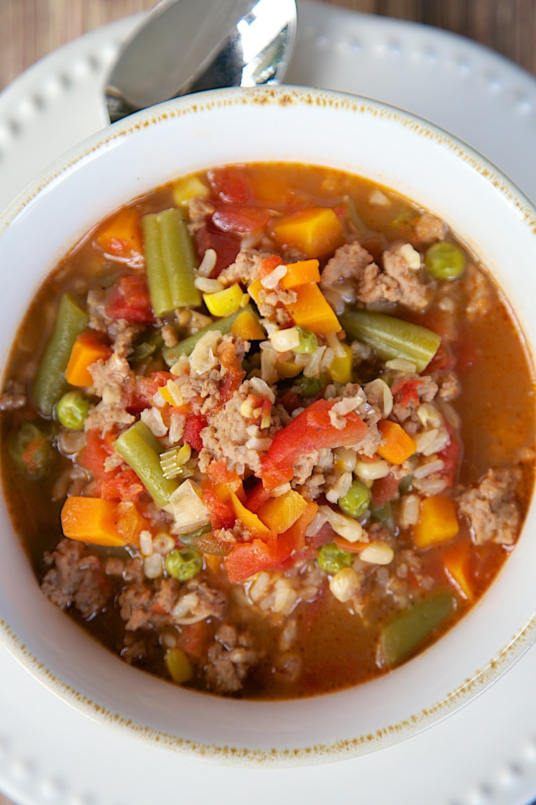 Ground Turkey Meat Recipies  Turkey Ve able Soup
