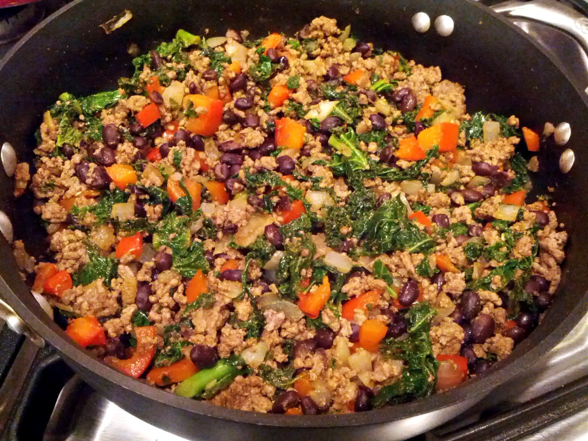 Ground Turkey Meat Recipies  Kale and Ground Beef Turkey Taco Filling