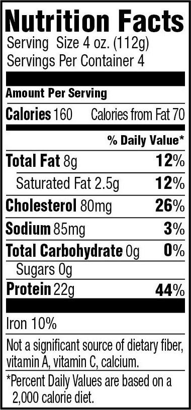 Ground Turkey Nutrition Facts  Lean Turkey