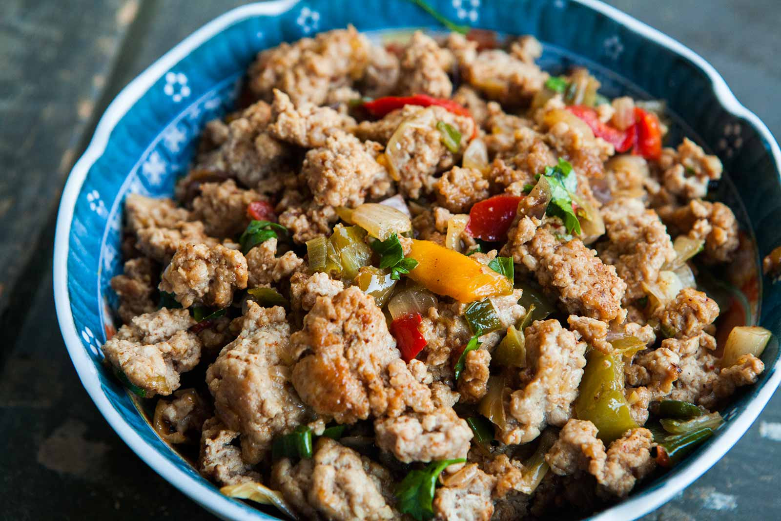 Ground Turkey Recipes Easy  Mom's Ground Turkey and Peppers Recipe
