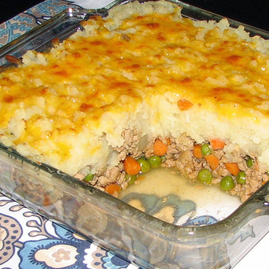 Ground Turkey Shepherd'S Pie  Turkey cottage pie with cauliflower mash recipe All