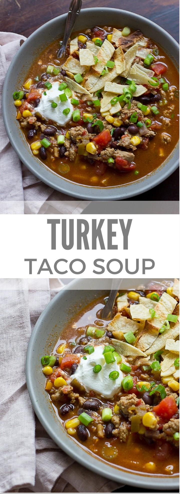 Ground Turkey Taco Recipe  ground turkey taco soup recipe