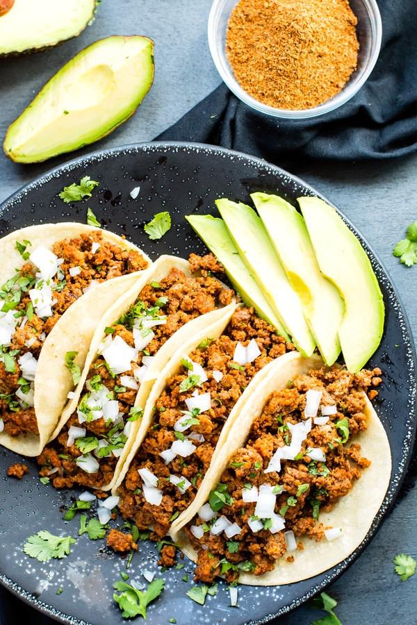 Ground Turkey Taco Recipe  Ground Turkey Tacos with Soft Corn Tortillas Evolving Table