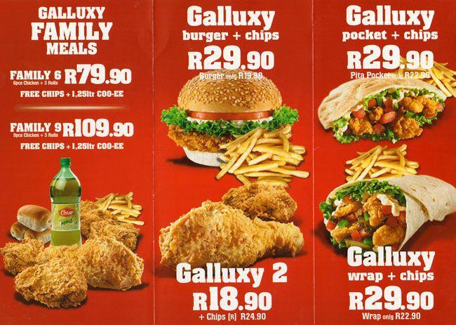 Gus'S Fried Chicken Menu  Galluxy Fried Chicken Menu Menu for Galluxy Fried Chicken