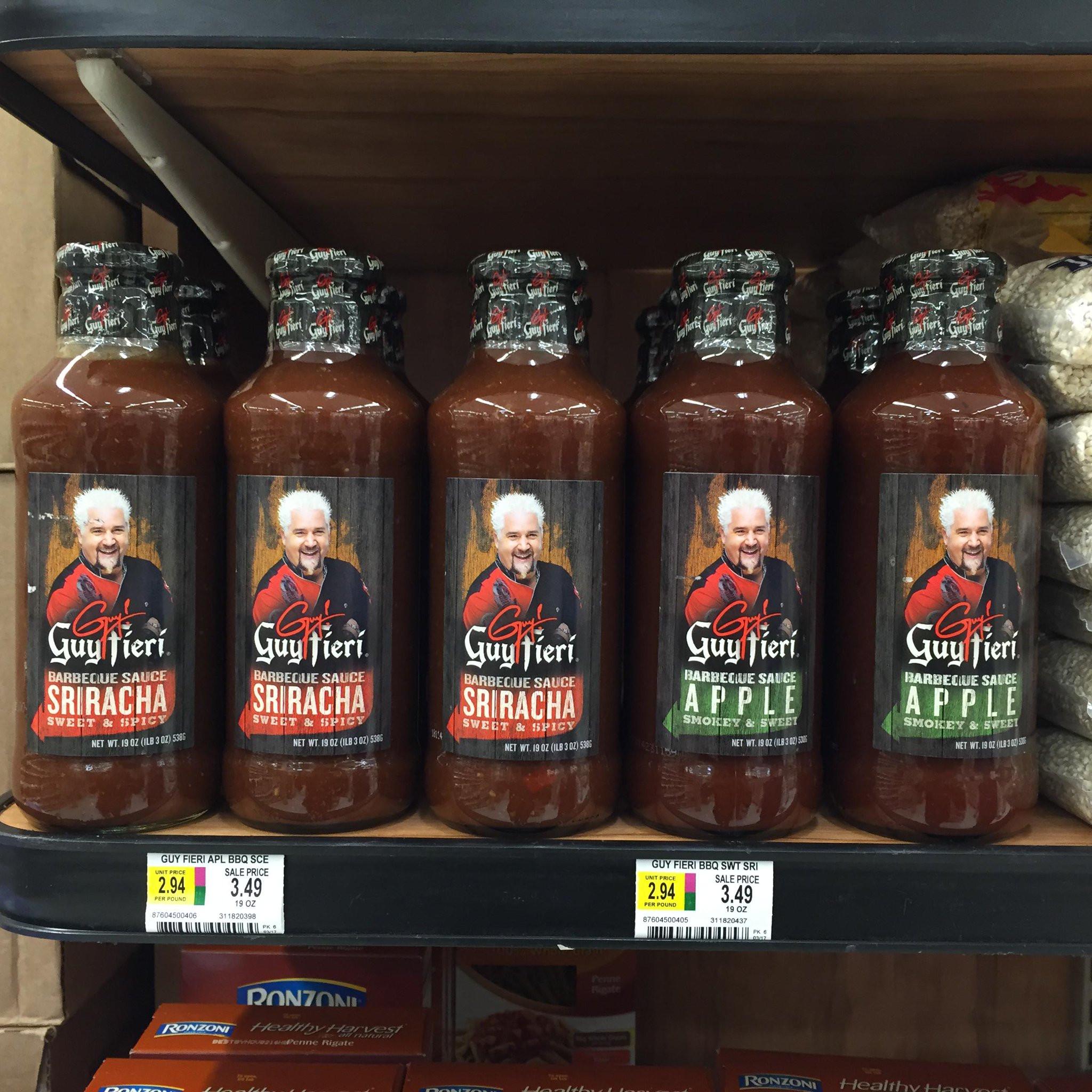 "Guy Fieri Bbq Sauce  Guy Fieri on Twitter ""new Apple and Sriracha BBQ sauces"