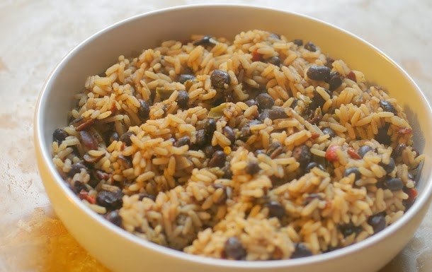Haitian Rice And Beans  My Catholic Kitchen Haitian Beans and Rice