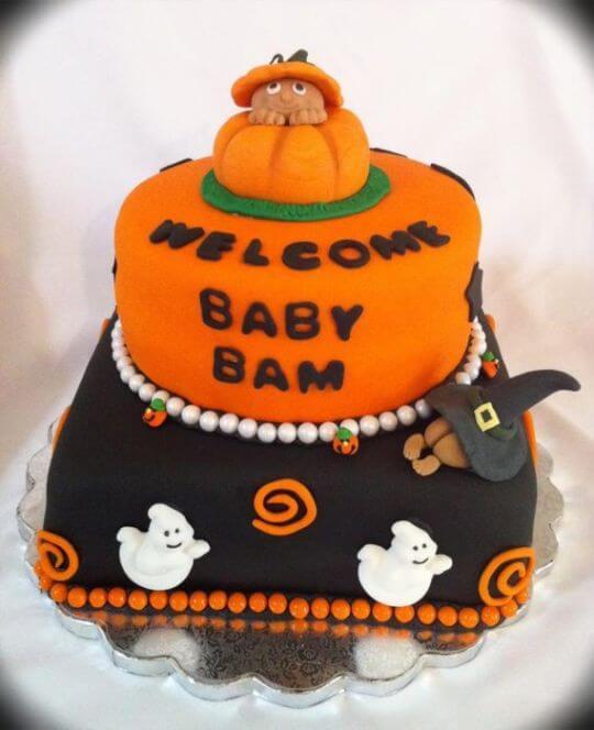 Halloween Baby Shower Cakes  Halloween Baby Shower Decorations Ideas