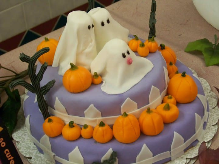 Halloween Baby Shower Cakes  Halloween Baby Shower cake Cake by Mary CakesDecor