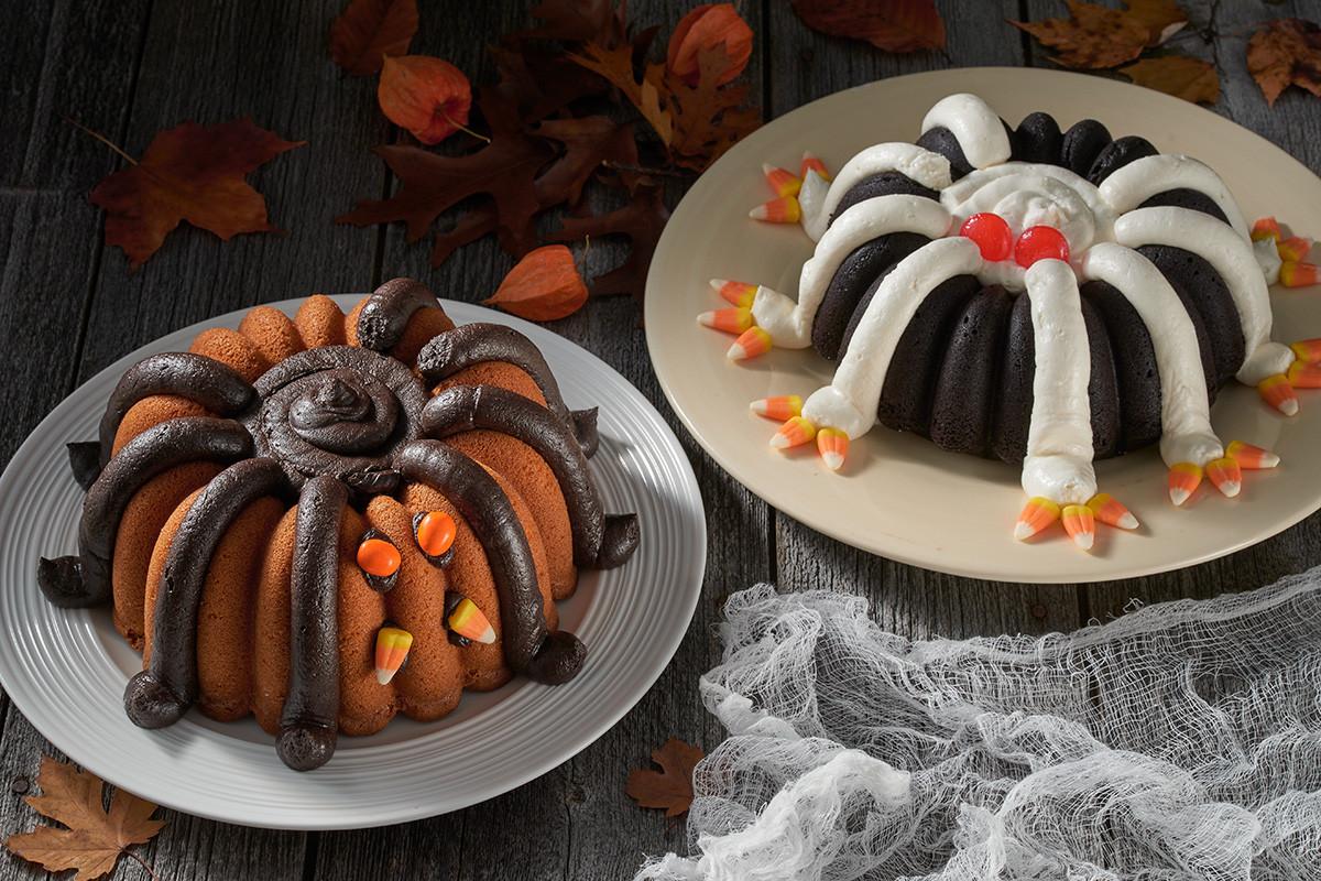 Halloween Cake Recipe  Halloween Spider Bundt Flourish King Arthur Flour