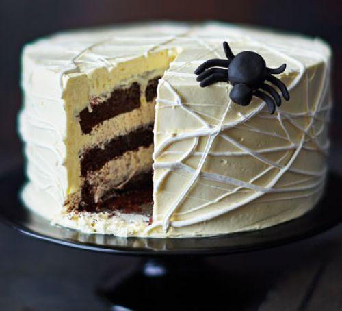 Halloween Cake Recipe  Spider s web cake recipe