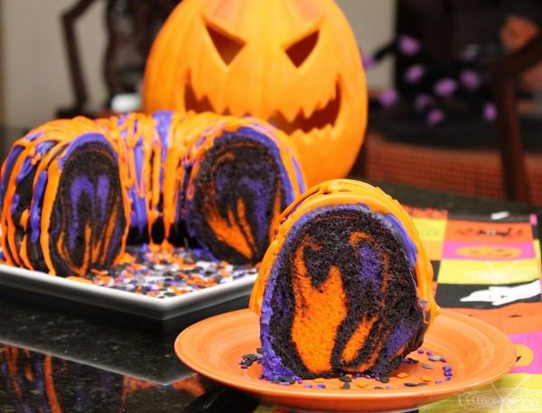 Halloween Cake Recipe  Amazing Halloween Rainbow Party Bundt Cake Recipe