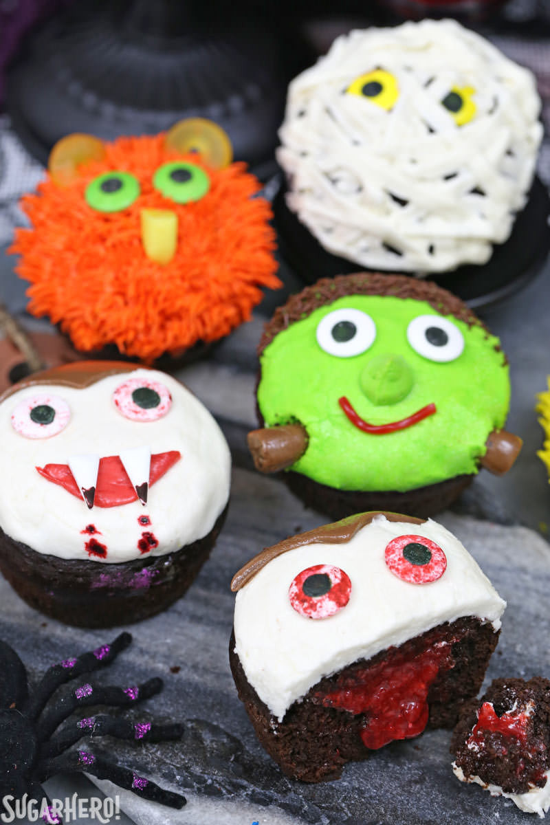 Halloween Cupcakes Images  Stuffed Halloween Cupcakes SugarHero