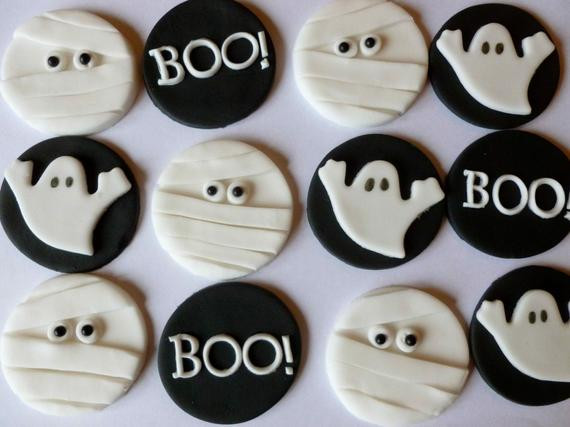 Halloween Cupcakes Toppers  Edible Fondant Halloween Cupcake Toppers 4 of by