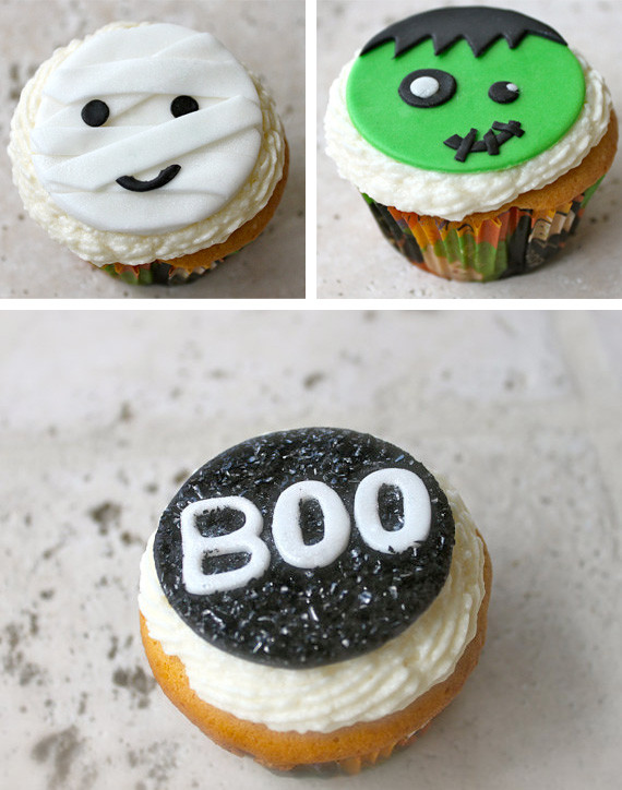 Halloween Cupcakes Toppers  Halloween cupcake toppers