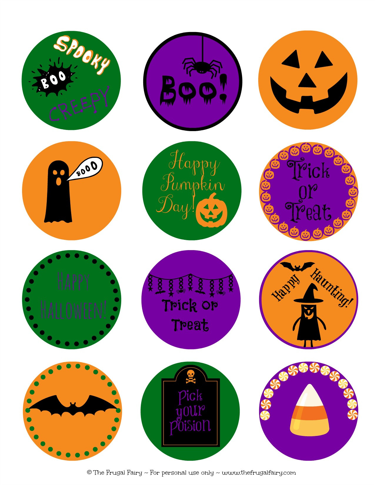 Halloween Cupcakes Toppers  Halloween Printables Archives