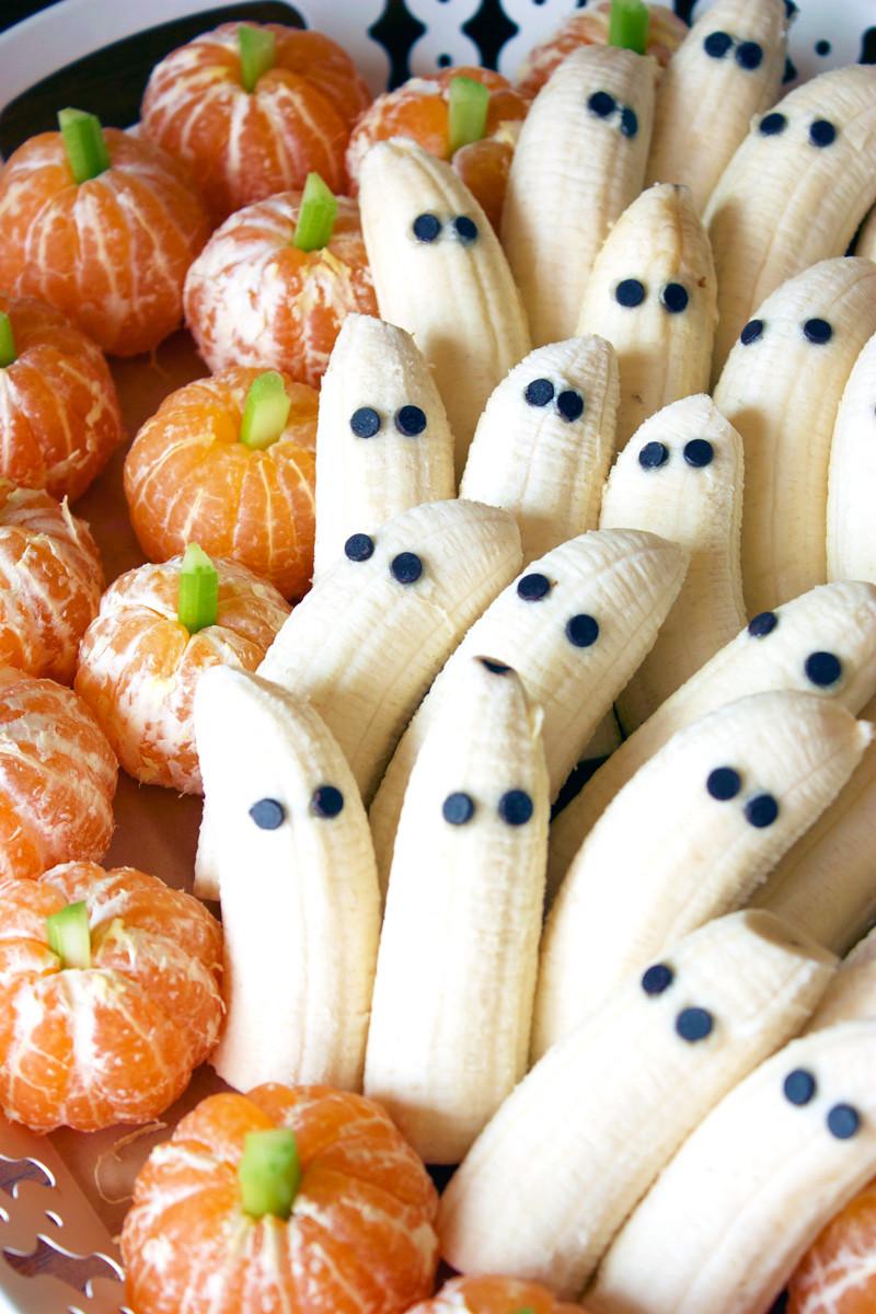 Halloween Desserts Pinterest  Tangerine Pumpkins & Banana Ghosts
