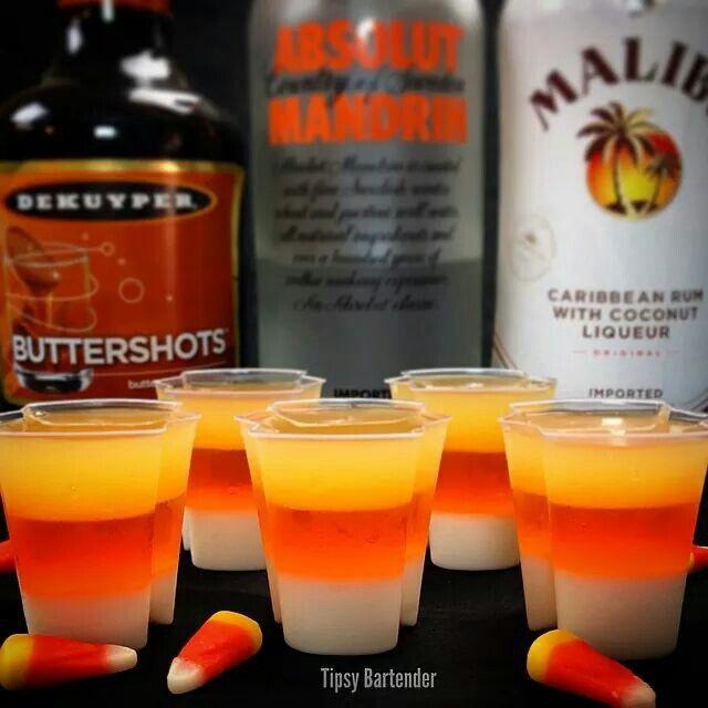 Halloween Drinks Tipsy Bartender  Ez Squeeze Candy Corn Jello Shots Halloween Tipsy