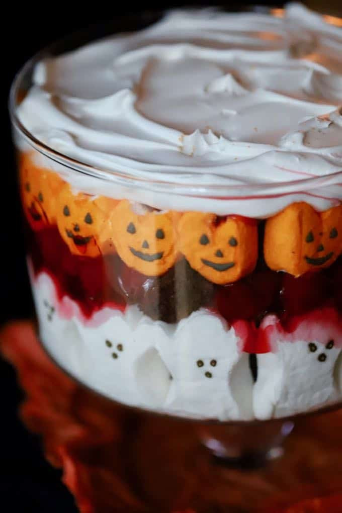 Halloween Themed Desserts  Easy Halloween Black Forest Trifle