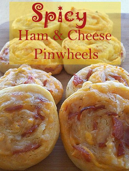 Ham And Cheese Crescent Rolls Appetizers  Spicy Ham and Cheese Pinwheels fast and easy appetizer