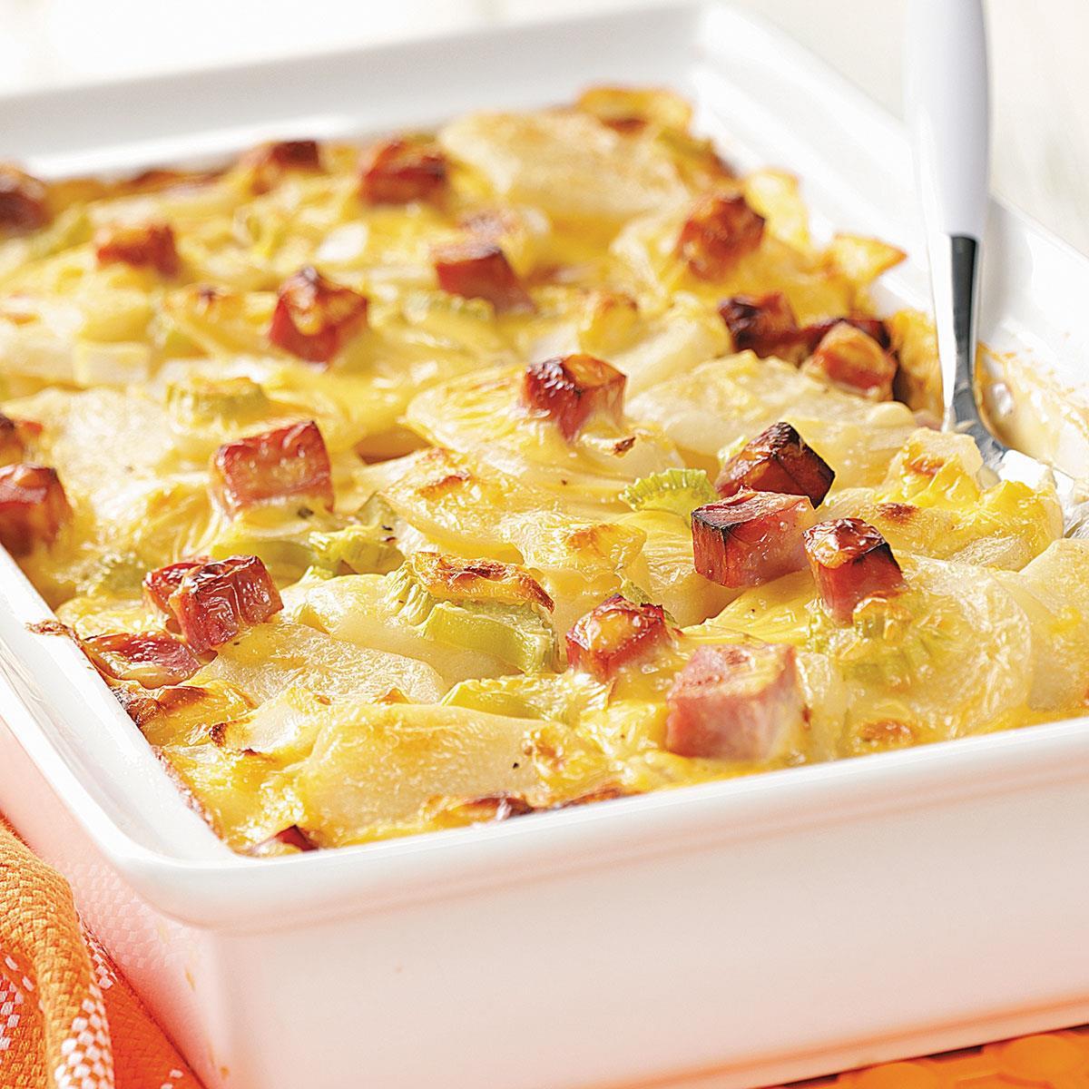 Ham And Potato Recipes  Ham and Creamy Potato Scallops Recipe