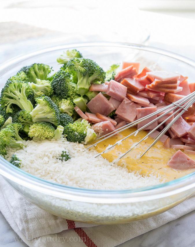 Ham And Rice Casserole  Cheesy Leftover Ham and Rice Casserole
