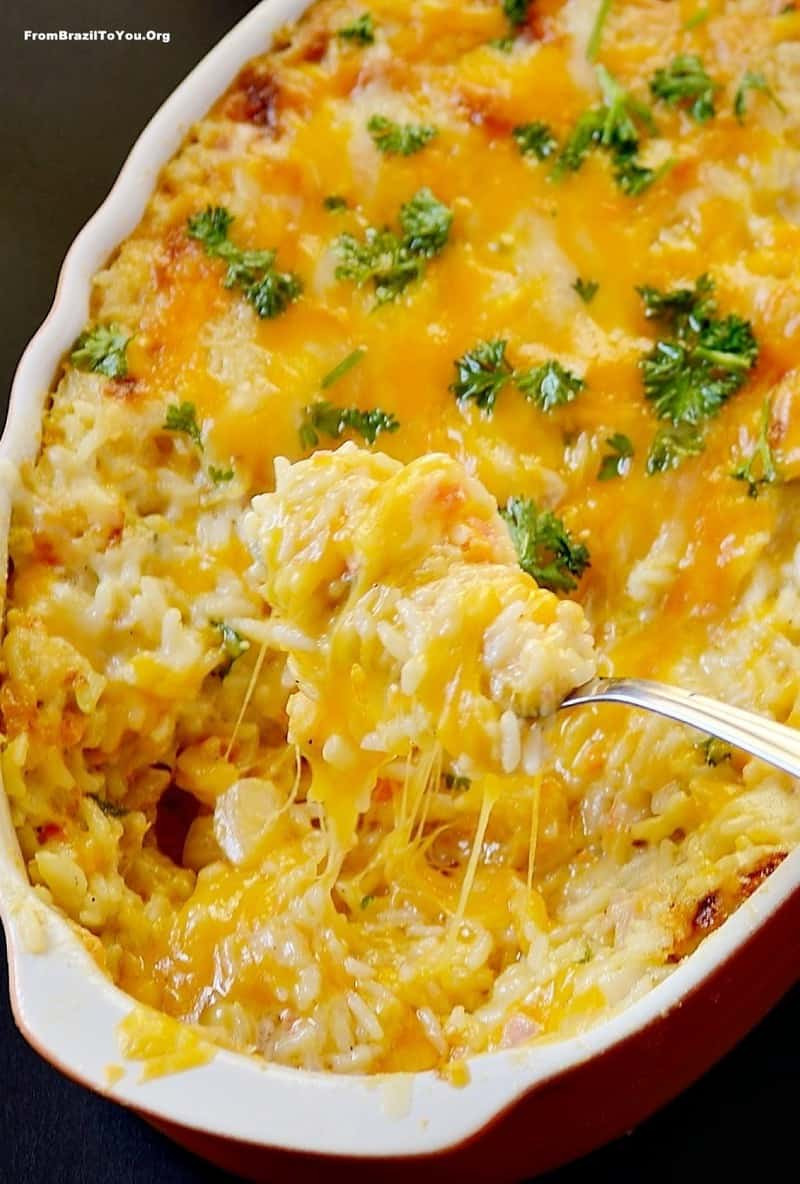 Ham And Rice Casserole  Ham and Cheese Baked Rice Arroz de Forno Misto Easy