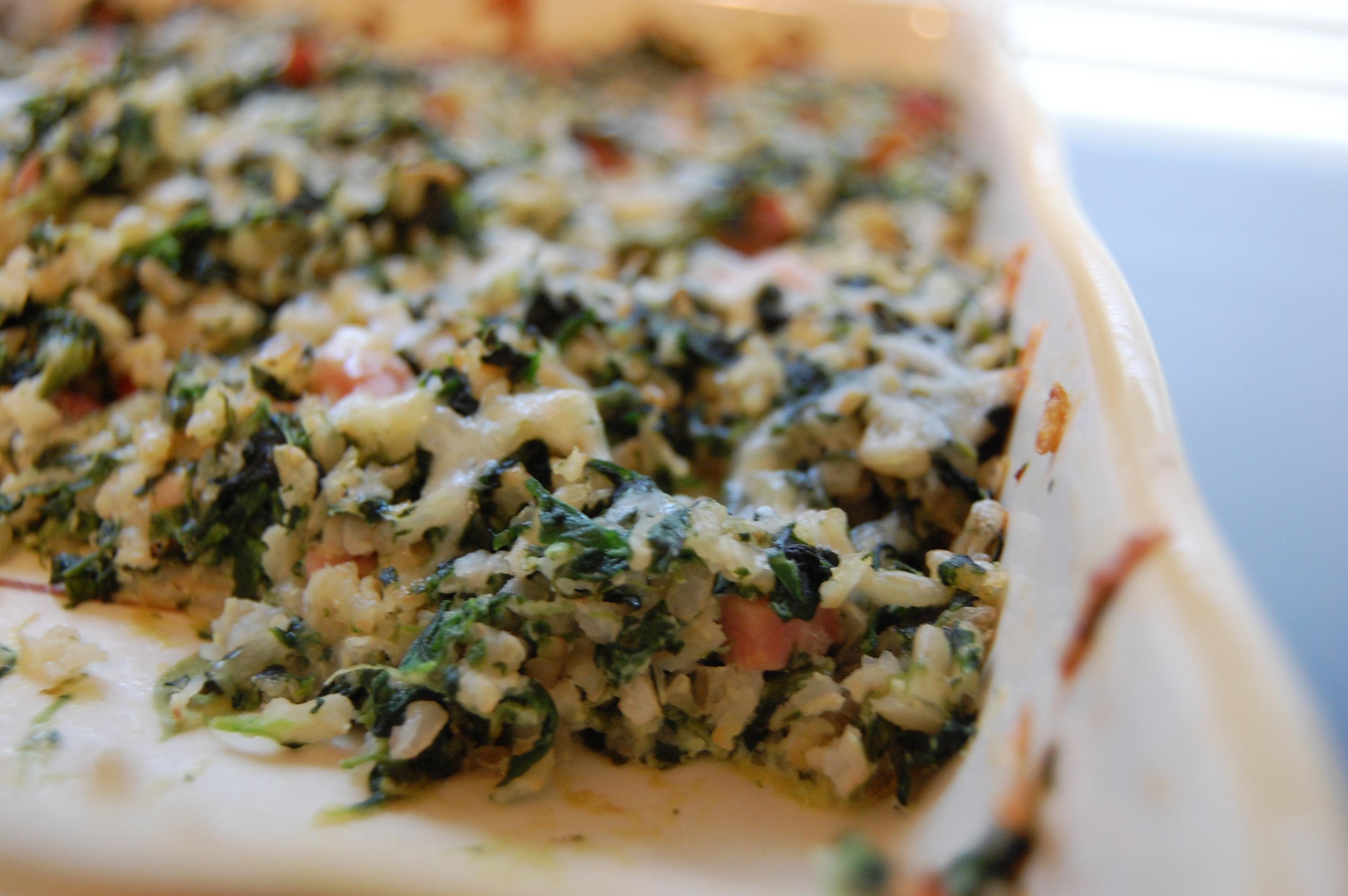 Ham And Rice Casserole  Spinach Rice and Ham Casserole