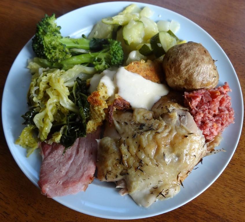Ham Christmas Dinner  Best Christmas Dinner Ever Thyme Roasted Chicken Baked