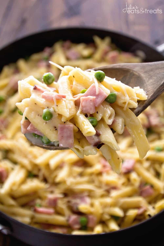 Ham Dinner Ideas  e Pot Ham & Penne Skillet Recipe VIDEO Julie s Eats