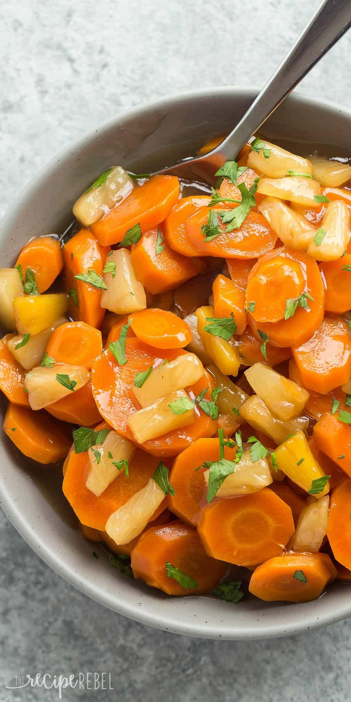 Ham Dinner Sides  Slow Cooker Pineapple Glazed Carrots Recipe