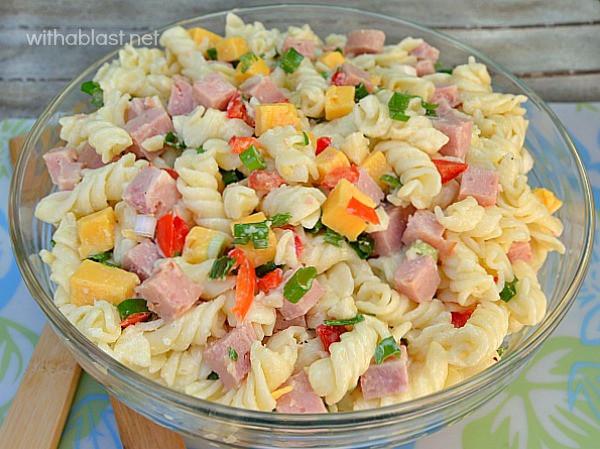 Ham Pasta Salad  ham pasta salad