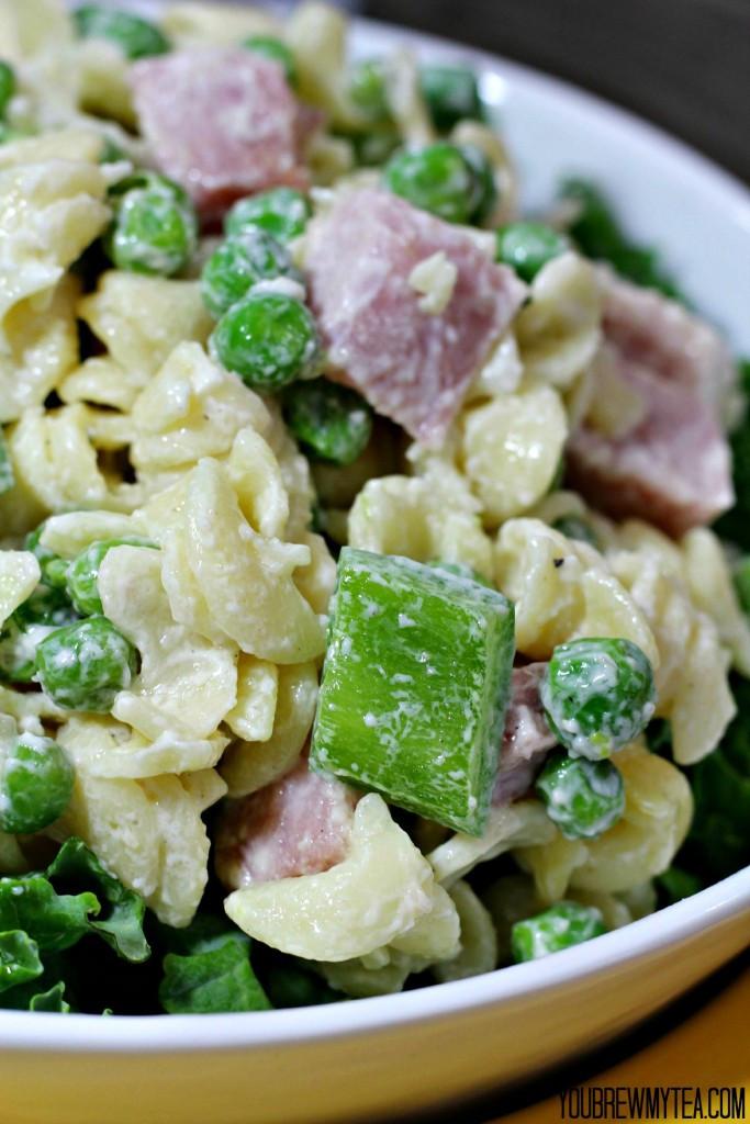 Ham Pasta Salad  green pea and ham salad
