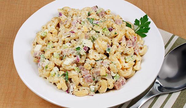 Ham Pasta Salad  pasta salad with diced ham