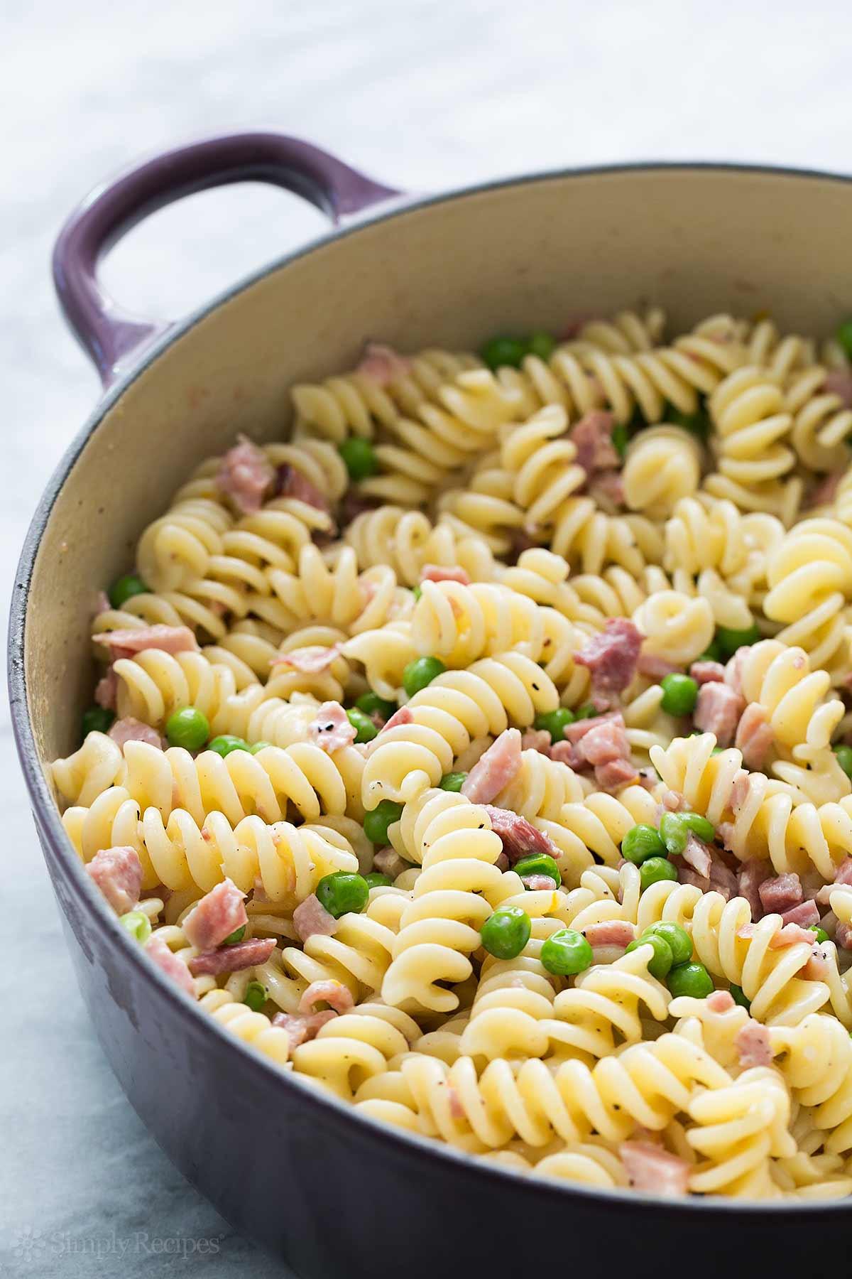 Ham Pasta Salad  Pasta with Ham and Peas Recipe