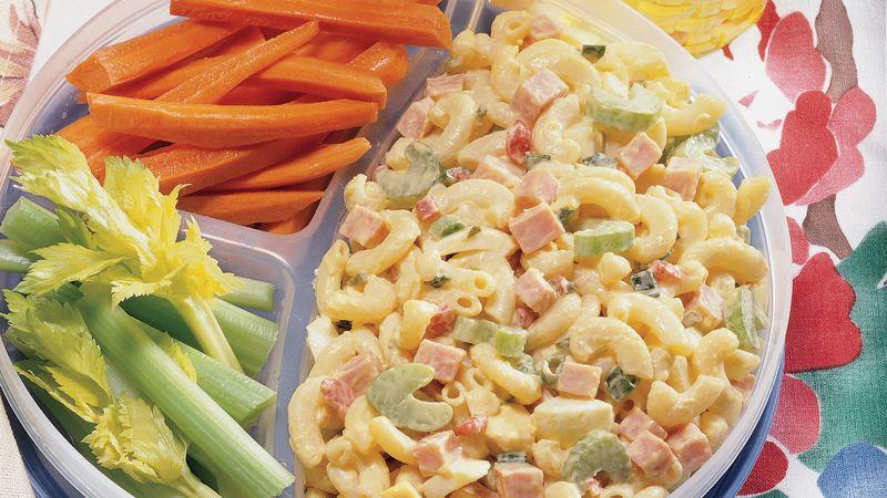 Ham Pasta Salad  Ham and Macaroni Picnic Salad Recipe BettyCrocker